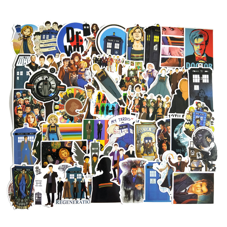50Pcs/pack Doctor Who Graffiti Stickers For Luggage Motorcycle Laptop Skateboard Adesivos Phone Car Stickers