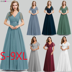 Image 2 - New Arrival Evening Dresses Long Ever Pretty A Line V Neck Tulle Women Summer Formal Party Dresses Vestidos De Fiesta De Noche