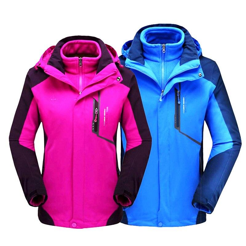 2019 Winter Ski Jacket Men And Women Waterproof Breathable Warm Outdoor Snow Coats -30 Degrees Hiking Skiing Snowboard Jackets
