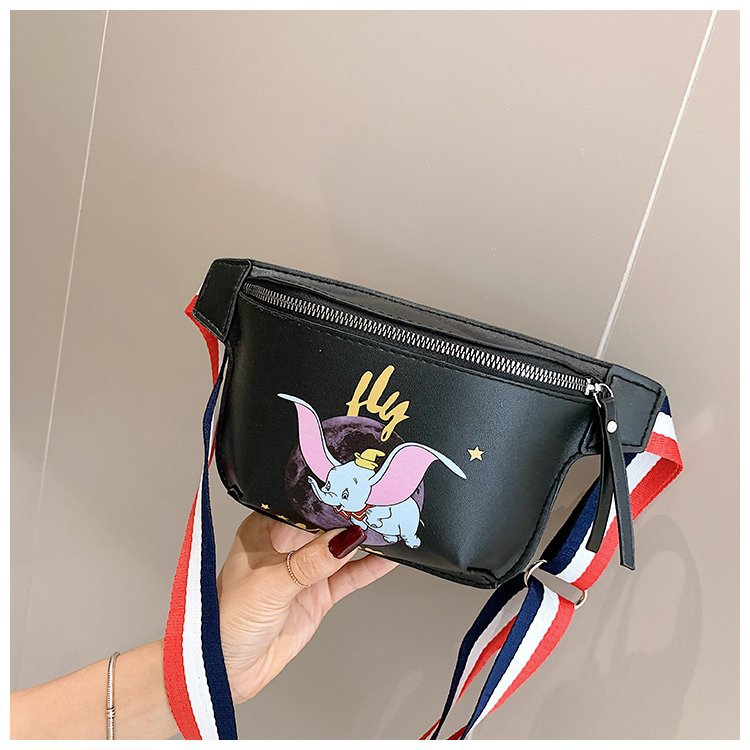 2019 Disney Dumbo Lady Messenger Shoulder Bag Cartoon Chest Bag Female Waist Bag Girl Chest Bag Mobile Phone Bag Coin Purse
