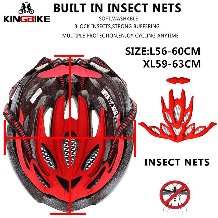 KINGBIKE HOT Bicycle Helmet Men Women MTB Road Cycling Helmets Ultralight Integrally-molded EPS+PC Bike helmet Capacete Ciclismo
