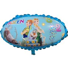 1pc Large Blue Snow Princess Mirror Foil Balloon Birthday Party Supplies Cartoon Figure Mermaid Partyrefueling Hand Stick(China)