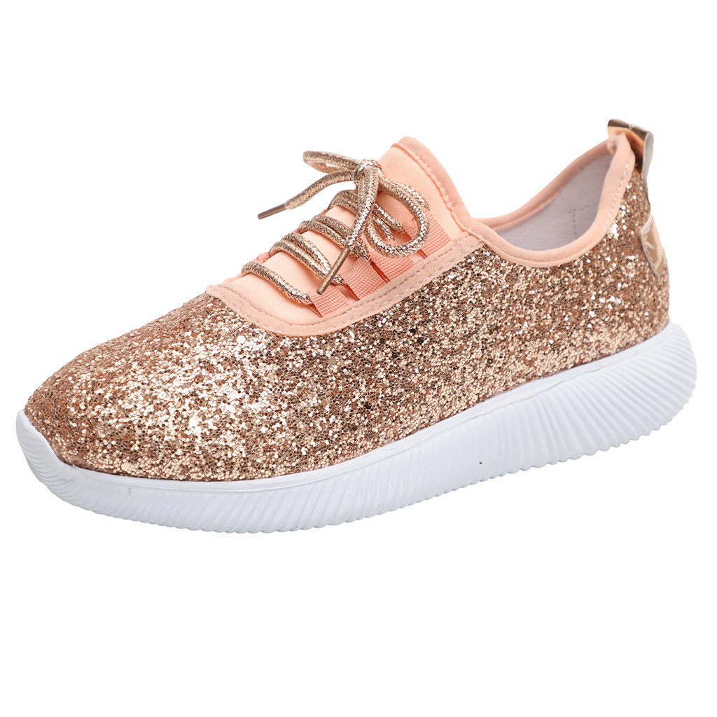 SAGACE Breathable Sneakers Women Outdoor Casual Shoes Woman Sequined Cloth Casual Sport Shoes Female Sneakers Women Casual Shoes