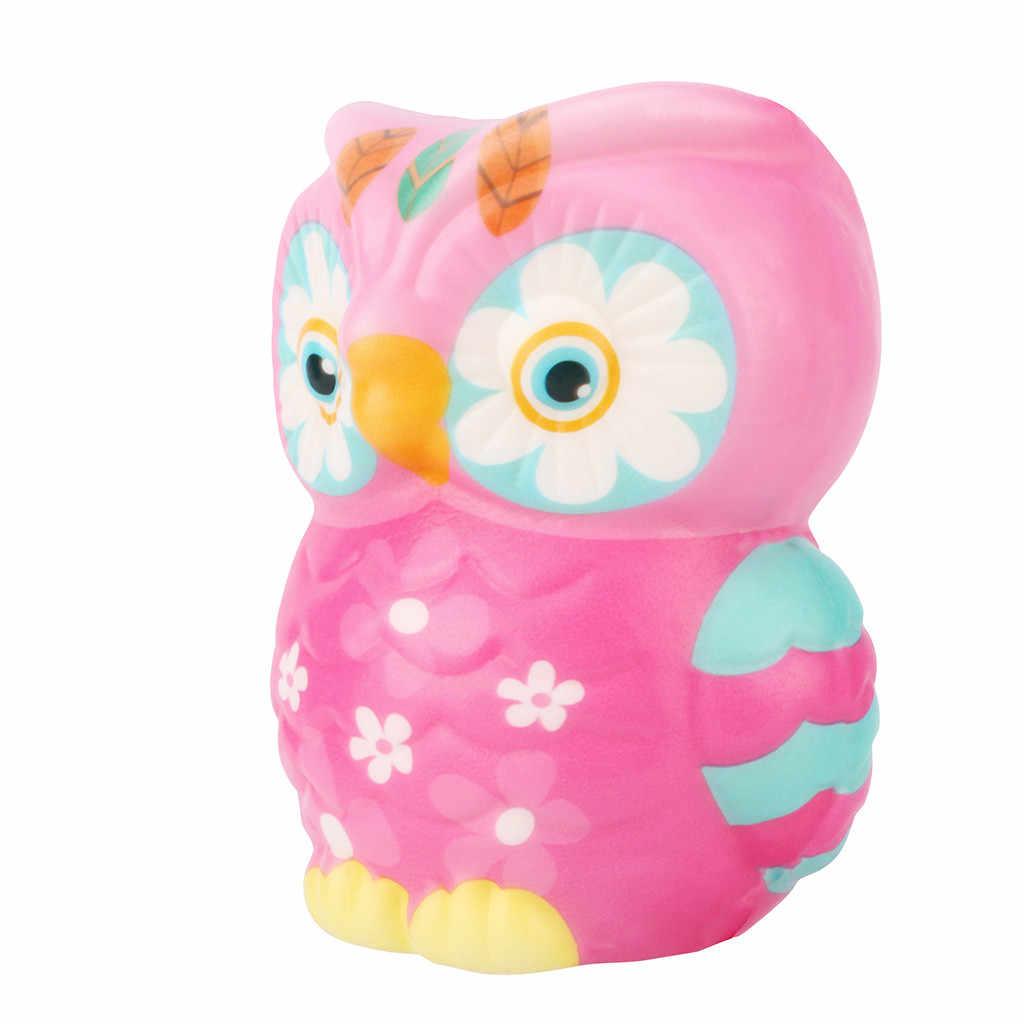 Jumbo kawaii coruja squishies lento subindo creme perfumado antiestresse squeeze brinquedos gigante animal pássaro alívio do estresse brinquedo para o presente das crianças