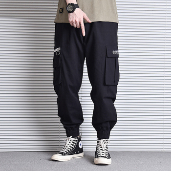 Fashion Streetwear Men Pants Loose Fit Casual Big Pocket Cargo Pants Green Camouflage Joggers Pants Hombre Hip Hop Pants fashion streetwear men joggers pants casual loose fit slack bottom camouflage military big pocket cargo pants men hip hop pants