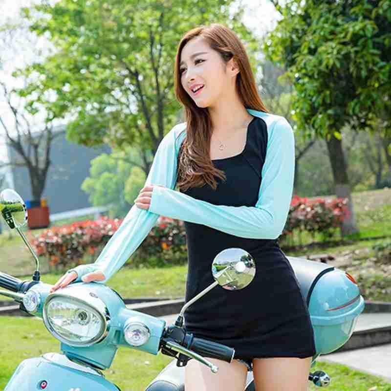 Summer Sun Protection Shawl Sleeves Outdoor Riding Women Hijab Muslim Arm Cover Fashion Golf Uv Protection Shawl Sleeves