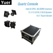 Consola de iluminación de escenario DMX512, Mando de cuarzo 11,1/11,0, sistema Super compacto para Dj, consola de luz de Disco con cabezal móvil, LED
