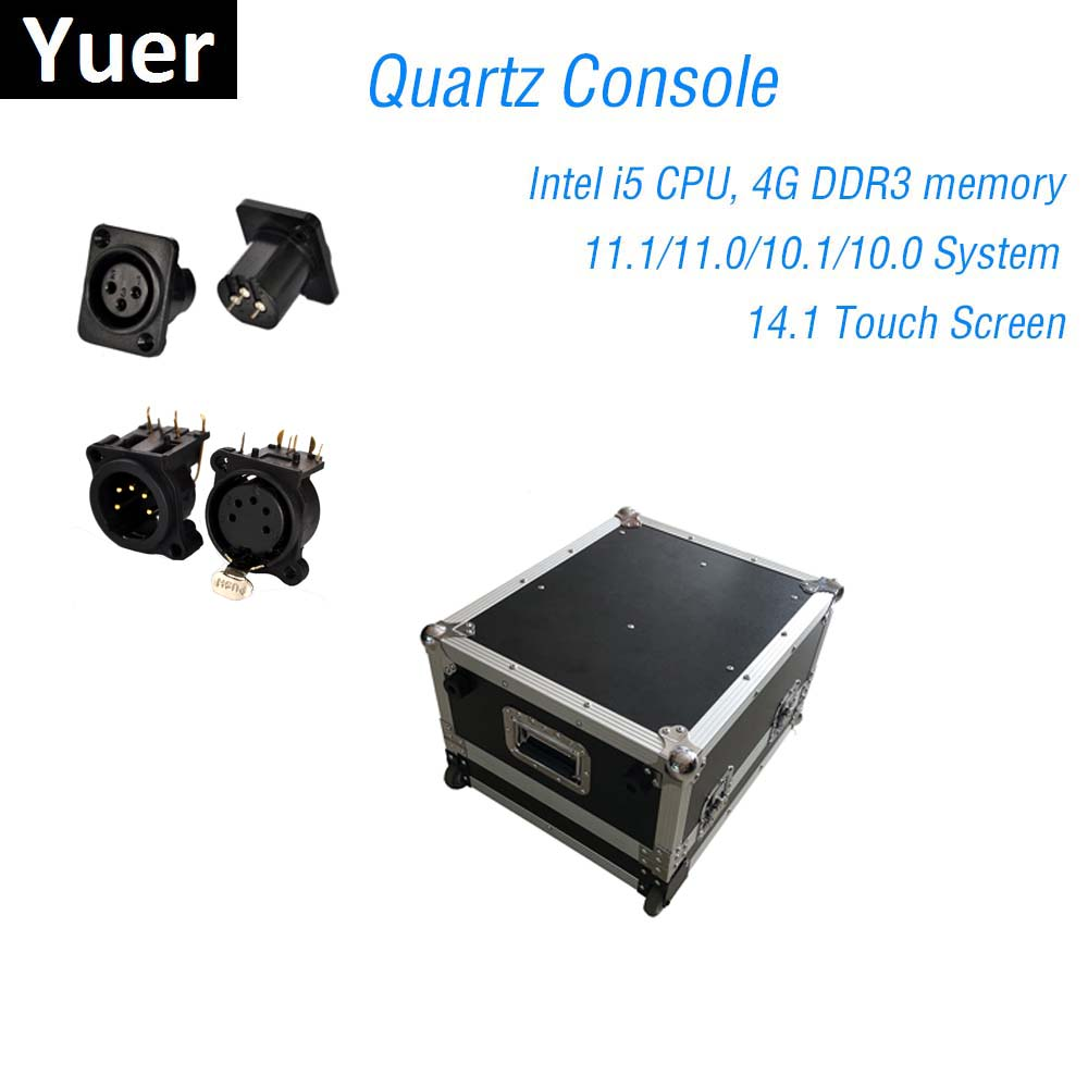 Console d'éclairage de scène DMX512 contrôleur Quartz 11.1/11.0 système Super Compact pour Dj lumière Disco LED orientable Par Console