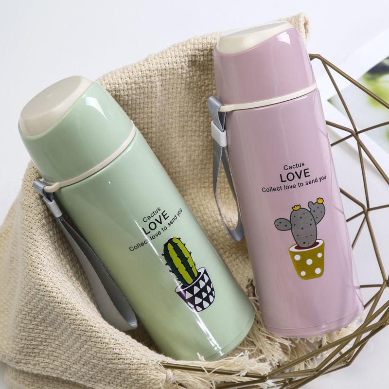 Creative 400ML Drink Portable Cup Mug Penguin Bottle Glass Water+Tea Filter