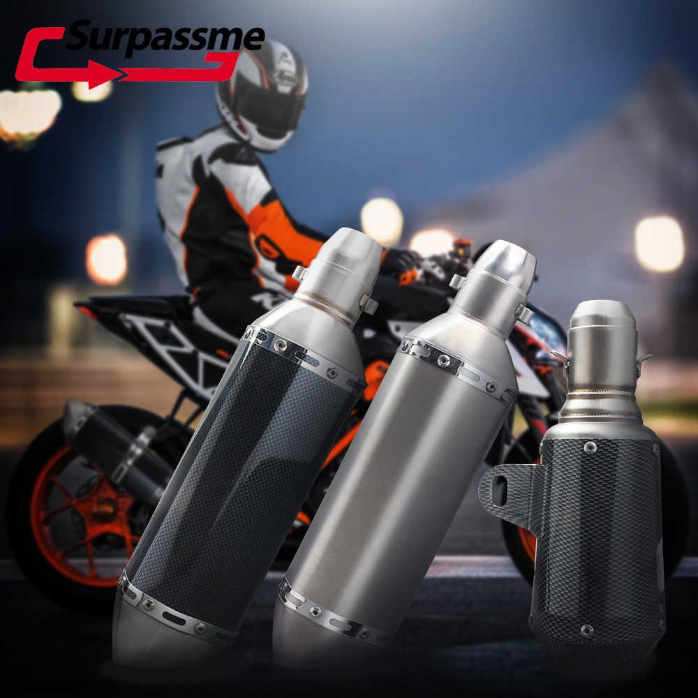 Cho Akrapovic Ống Xả Xe Máy Đa Năng Ống 48 Mm 51 Mm Nhét Thoát Khỏi Sợi Carbon Cho Xe Honda Dax MSX 125 CB1000R cb500x 400