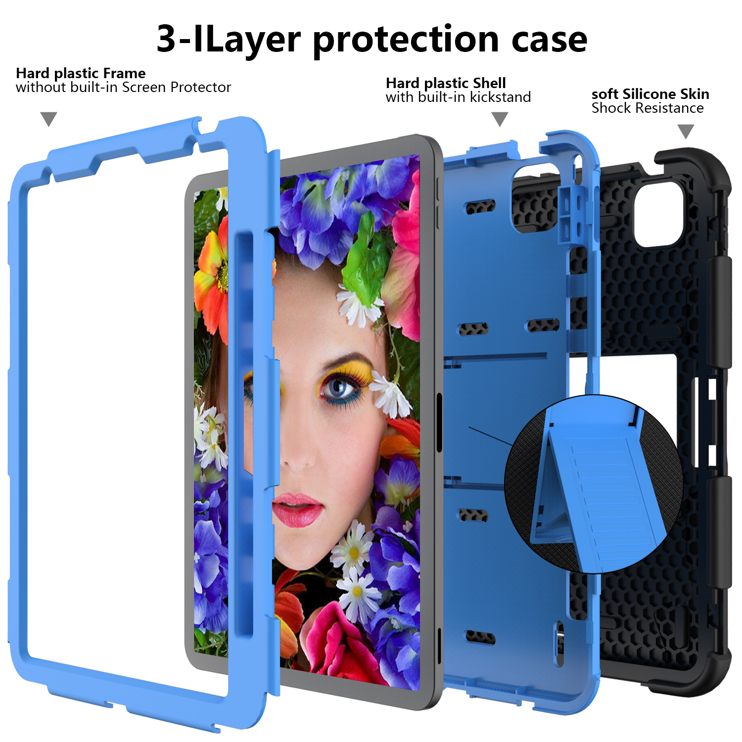 Kids Tablet Case for iPad Air 4 10 9 inch 2020 Heavy Duty Hybird Shockproof PC