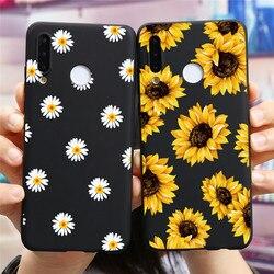 Silicone Flower Case For Huawei P30 Lite P20 P8 P9 P10 Mate 10 20 P40 Lite E Pro 2017 P Smart Z 2019 2020 Nova 3 5t 6se Soft TPU
