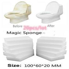 20 pçs multi-função mágica melamina esponja borracha limpador de limpeza esponjas cozinha banheiro 100x60x20mm