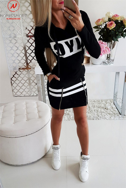 fun print hoodie dress 2
