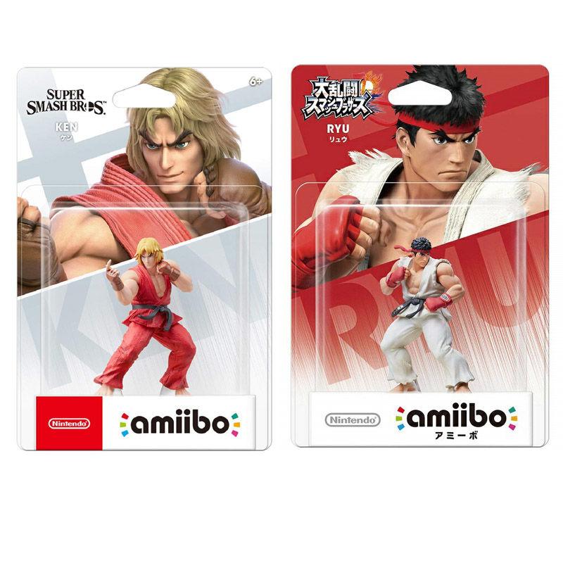 Nintendo Amiibo Ken истребители Ryu улица фигурка NFC супер разбивать Брос. Серия