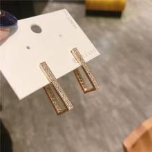 Nova moda martelado brinco para as mulheres cor de ouro meatal jóias liga geométrica gota brincos statement