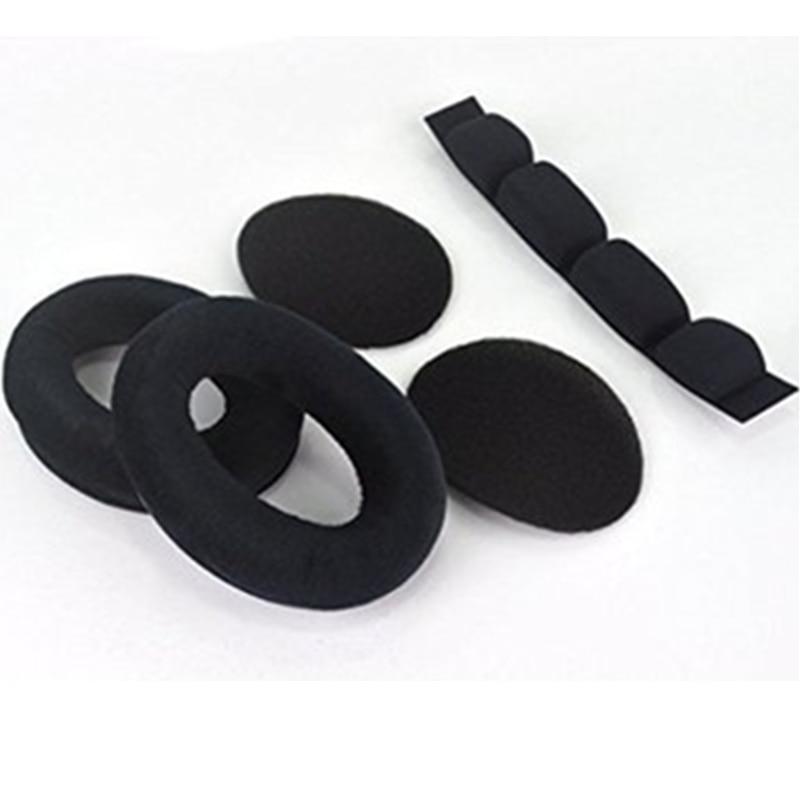Coussinets d'oreille, 1 paire, oreillettes, avec bandeau, adaptés à Sennheiser HD525 HD535 HD545 HD565 HD580 HD600 HD650 |