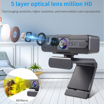 Веб-камера TISHRIC H701 Full HD 1080P с крышкой, USB веб-камера с микрофоном для компьютера, веб-камера для ПК, мини-камера с автофокусом 2