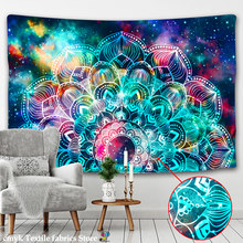 Mandala indiana tapeçaria parede pendurado cor psicodélico astrologia adivinhação matbruxaria hippie boho decoração colcha