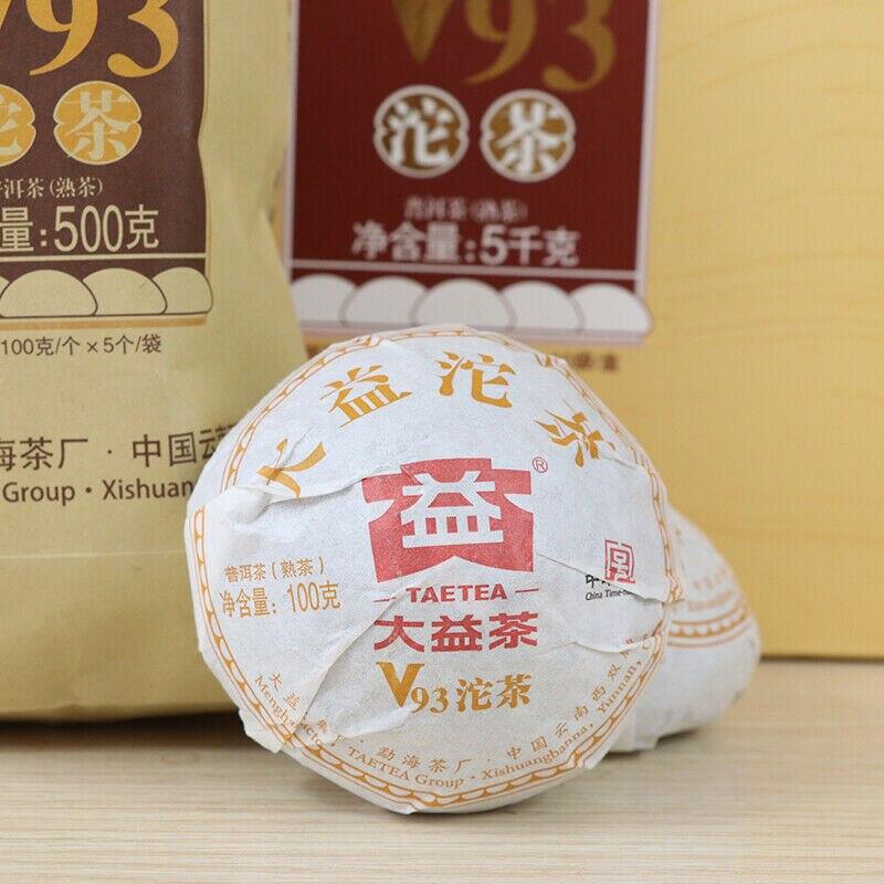 TAETEA Classic V93 Pu-erh Tuo Cha * 2018 Menghai Dayi Ripe Tea 1801 Batch Shu Pu'er Tea