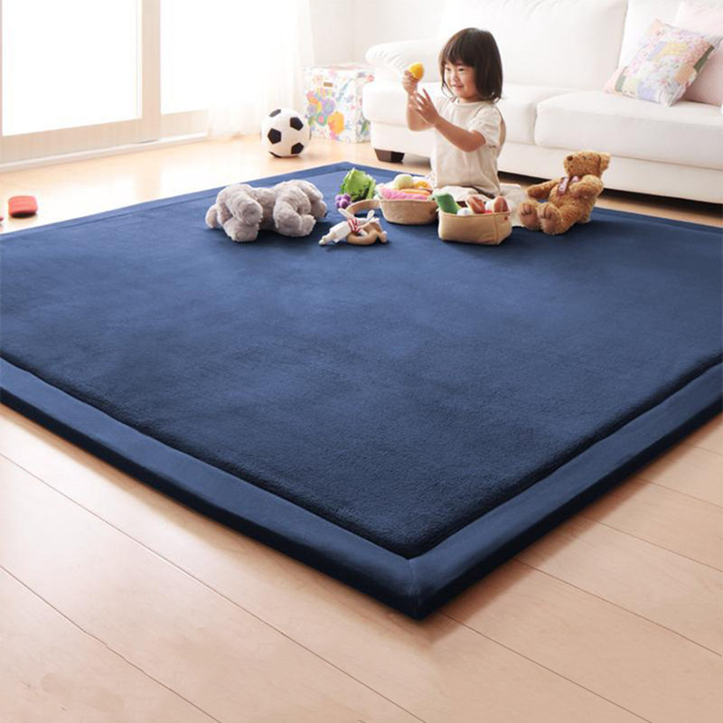 Modern Solid Color Thick Carpet Living Room Sofa Coffee Table Mat Children Crawling Mat Tatami Mat Bed Baby Shatter-resistantmat