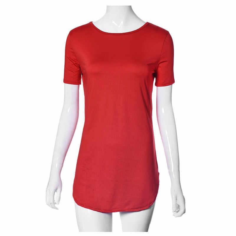 女性半袖ドレスミニセクシーなドレス春無地サンドレス O ネックカジュアルドレス Tシャツ Elbise Sukienka # LR2