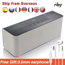 Altavoz portátil nby 5540 con Bluetooth, Radio FM, subwoofer, altavoz estéreo 3D, Boombox, altavoces dobles, graves para ordenador, TWS