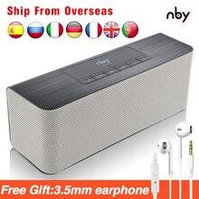 Nby 5540 ポータブルbluetoothスピーカーfmラジオワイヤレスサブウーファースピーカー 3Dステレオラジカセデュアルスピーカーコンピュータ低音tws
