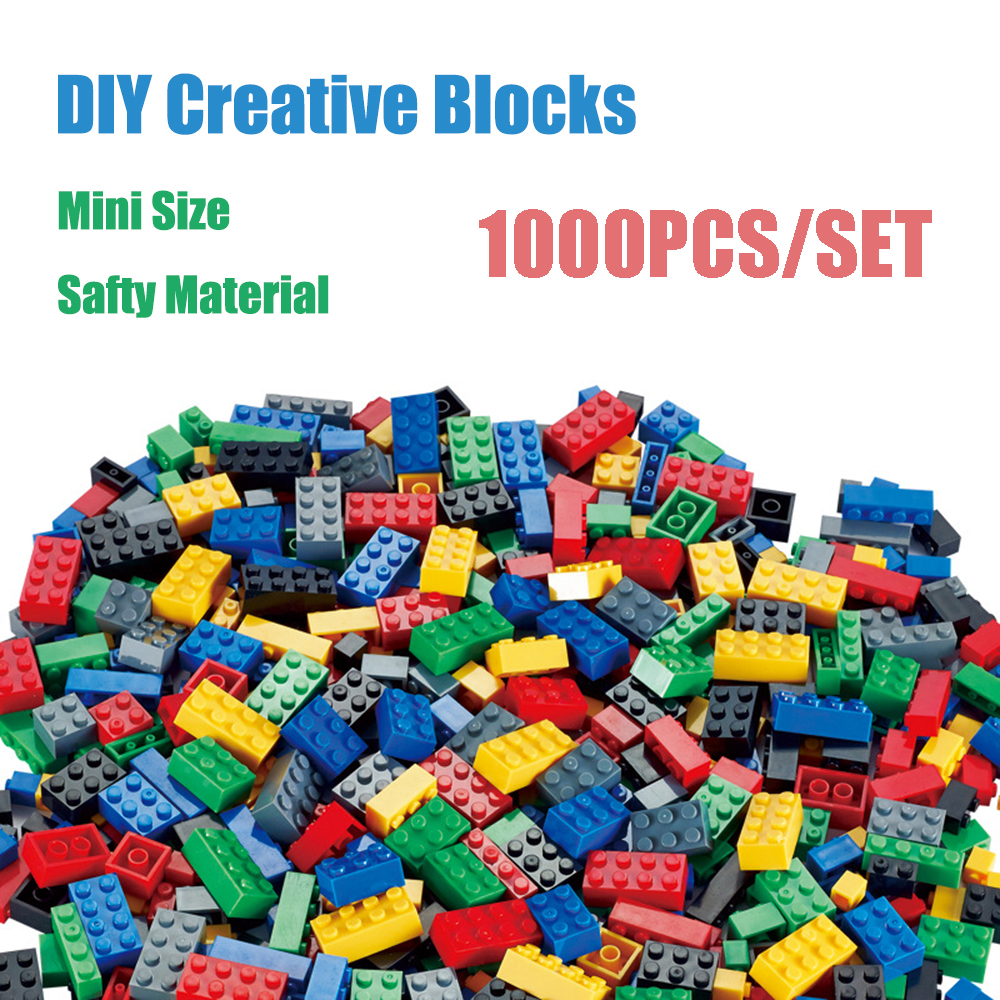 <font><b>1000</b></font> <font><b>PCS</b></font> Building Blocks Sets City DIY Creative Bricks <font><b>Compatible</b></font> <font><b>Legoedlys</b></font> Bricks Bulk Educational Kids Toy Boys Girls Blocks image