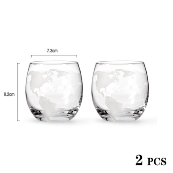 Z-NING Creative Glass Wine Set Glass Wine Bottle Whisky Glass Red Wine Decanter Home Kitchen Brandy Glass Bar Decoration 9