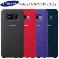 Samsung S8 Case Originele Officiële Silicone Soft Cover Samsung Galaxy S8 S9 S10 Plus S10e Note 8 9 Case bescherming Cover