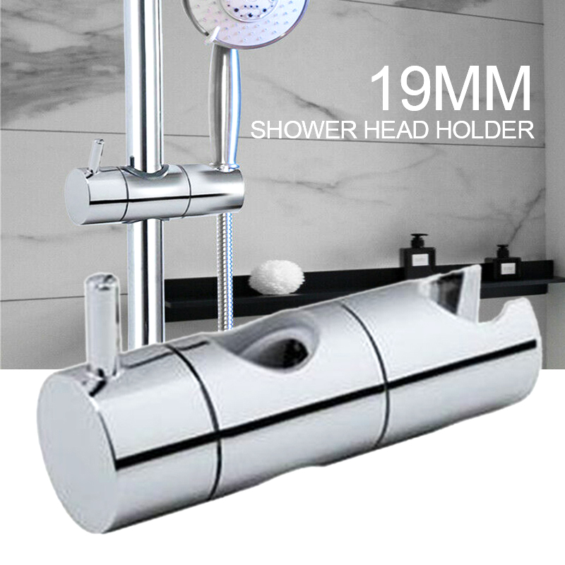 19mm ABS Chrome Shower Head Holder Bathroom Shower Bracket Rack Slide Bar Bathroom Faucet Accessories