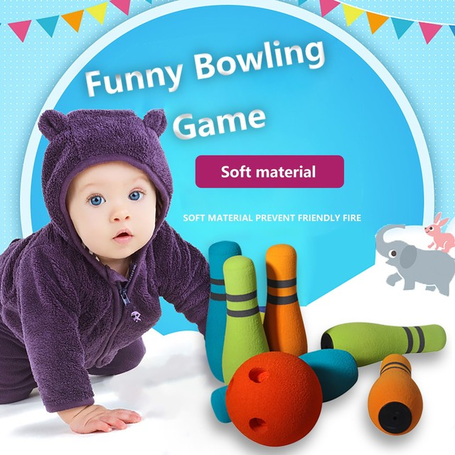 2021 Bowling Balls Children Animals Outdoor Fun & Sports Game Toy 6 Bowling With Ball Children's Puzzle Bowling New Year Toy F