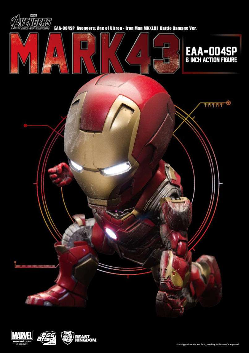 6 pouces oeuf attaque Action Marvel Iron Man MARK43 scène de dégâts de Combat Avengers EAA-004SP saignement bord armure figurine jouets