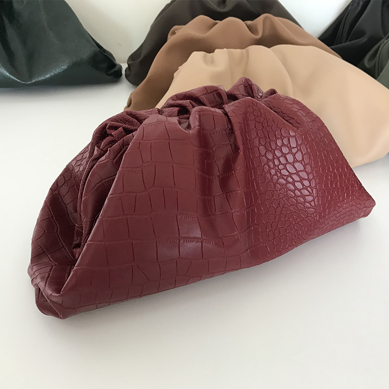 The Pouch PU Leather Big Bag Luxury Handbags Women Bags Designer Daily Clutch Bag Dumpling Cloud Bag Ladies Purses And Handbags