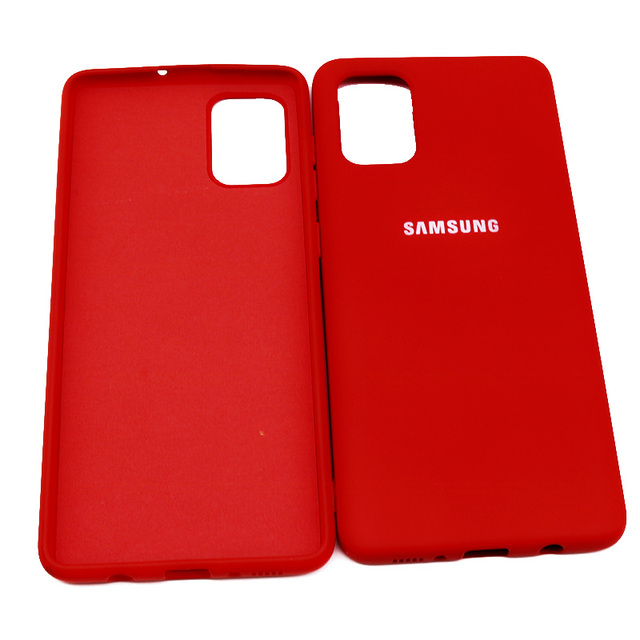 For Samsung Galaxy A51 A71 Case High Quality Soft Silicone Cover  Samsung Galaxy a71 a51  Protector Shell With Logo&Buttons 9