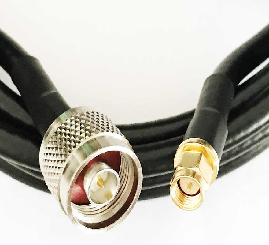 SMA Male untuk Konektor N MALE 5D-FB 50-5 Kabel Koaksial RF Adaptor Kabel 50Ohm 1/2/ 3 M 5 M 10 M 15 M