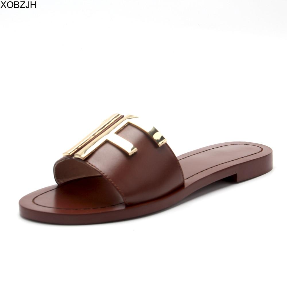 Flat Women Summer Black Sandals Shoes