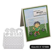 Мальчик футбол металлические режущие штампы Трафаретный Скрапбукинг DIY штамп для альбомов бумажные карты