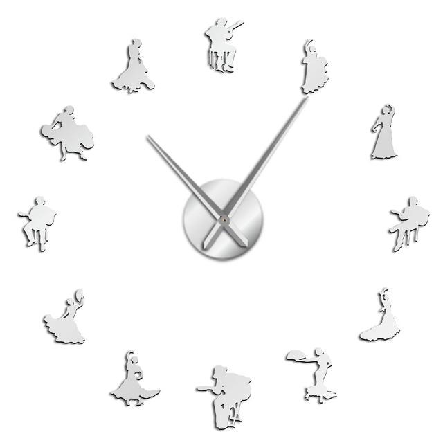 Details about  /Flamenco Dancer Silhouette 1 Wall Clock