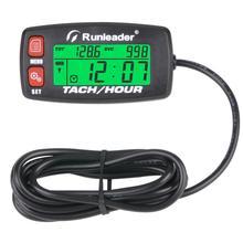 Motorcycle Meter Engine Hour Meter Gauge Alert RPM  Backlit Tachometer Resettable Tacho Hour Meters for ATV  Lawn Mower Red