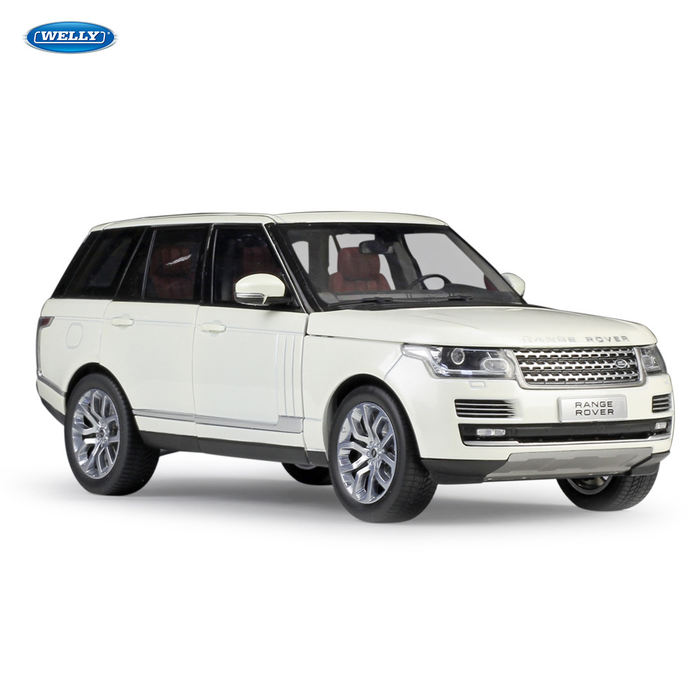 Welly 1:18 Land Rover New Range Rover SUV Car Model Simulation Car Decoration Collection Gift Toy Die Casting Model Boy Toy