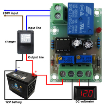 Intelligent Charger Power Control Panel Automatic Charging Power 12V Battery Charging Control Board For Diy Kit original new control panel keyboard power switch board panel for epson l850 l810 printer pcb panel assembly