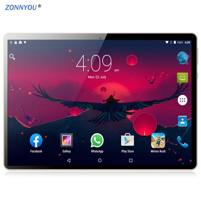 Nouveau 10.1 pouces 4G téléphone appel tablettes Android 8.1 Octa Core 4G + 64G tablette 3G 4G LTE double carte SIM ordinateur portable WiFi Bluetooth tablette pc