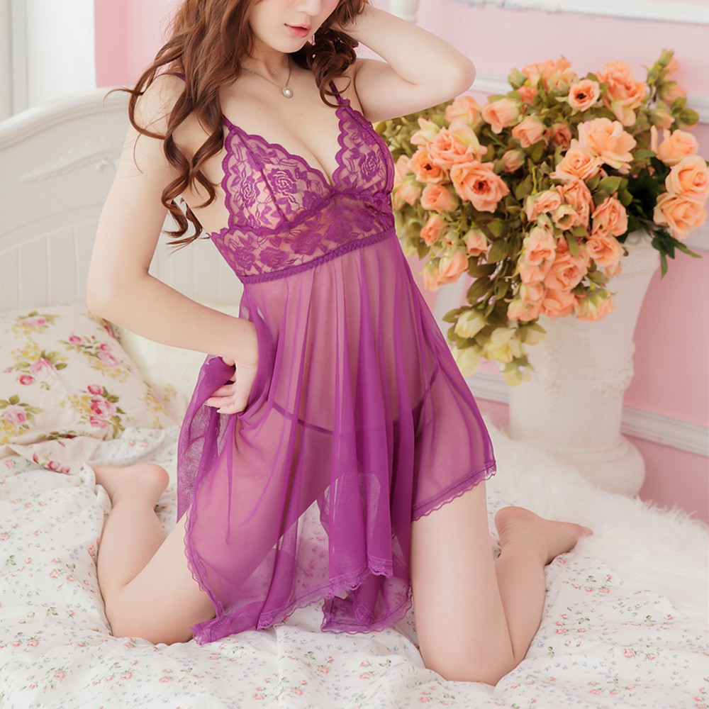 Porno Sexy Lingerie Babydoll Lace Temptation Sexy Underwear Erotic Lenceria Mujer Sexy Costumes Transparent Langerie Plus Size