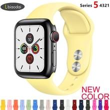 Ремешок для Apple Watch 38 мм 42 мм iWatch 4 ремешка 44 мм 40 мм спортивный силиконовый ремень браслет Apple watch 5 4 3 2 Аксессуары для ремешка