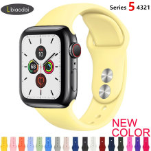 Tali untuk Apple Watch Band 38 Mm 42 Mm IWatch 4 Band 44 Mm 40 Mm Olahraga Silikon Gelang Sabuk apple Watch 5 4 3 2 Aksesoris Tali(China)