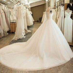 Image 4 - SL 5058 Cheap Sample Bow Wedding Bridal Dress Corset Ball Gown Satin Wedding Dress