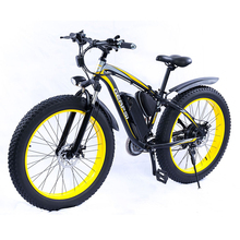 Electric bicycle 26 inch hydraulic brake beach Snow E bike fat tire electric bike with Shock