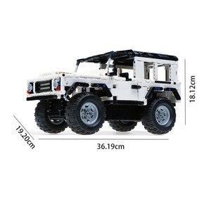 Image 3 - تكنيك سلسلة 553 قطعة المدافع RC نموذج سيارة SUV لتقوم بها بنفسك بنة ألعاب مكعبات السيارات للأطفال متوافق